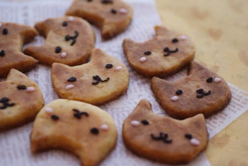 b横にゃんこクッキー