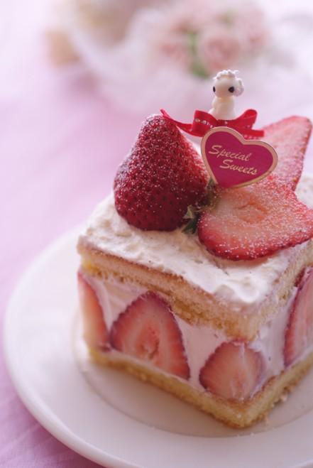 b縦2牛乳パック苺ケーキ