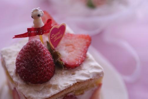 b横牛乳パック苺ケーキ