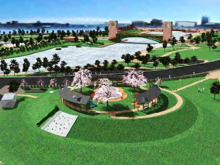 環水公園 見晴らしの丘 完成イメージ