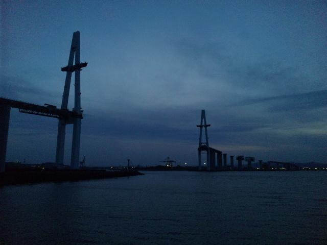 新湊大橋建設中 (2)