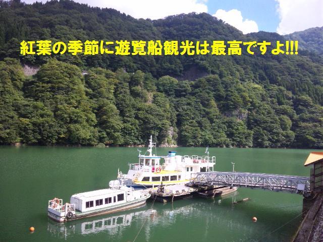 庄川狭 遊覧船観光 (2)