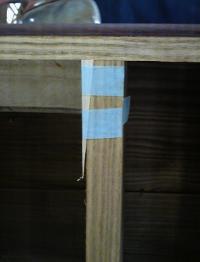 桐たんすの再生(洗い替え) 木目に合わせて