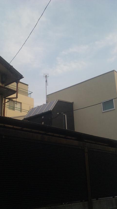 東京都板橋区にて地デジアンテナサイドベース工事