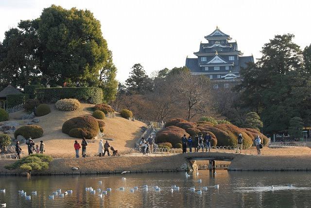 岡山城と唯心山