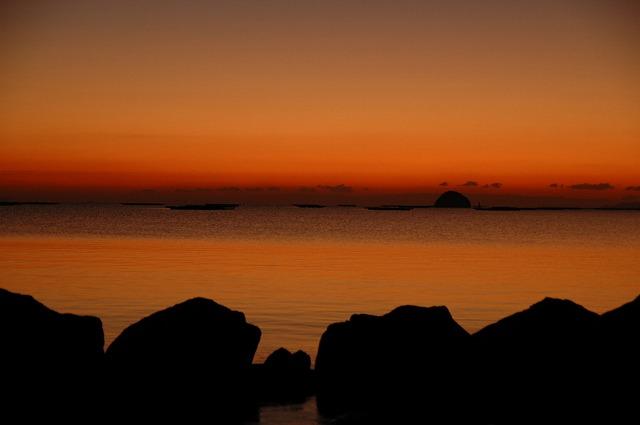 錦海湾の朝焼け2