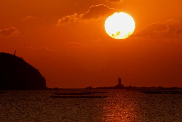 錦海湾の日の出4