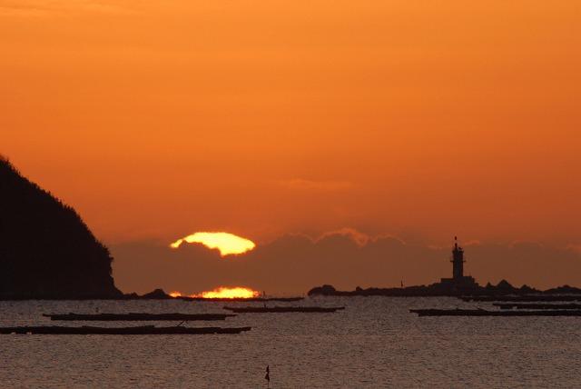 錦海湾の日の出3