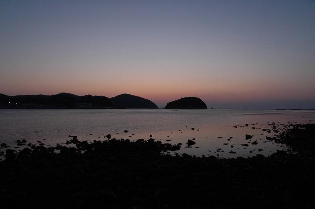 長島の朝焼け1