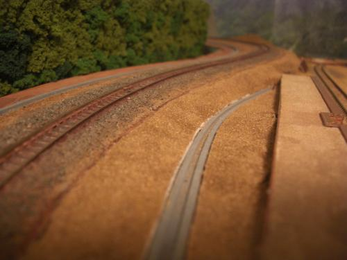 Nゲージレイアウト 製作 峠路線 斜面4