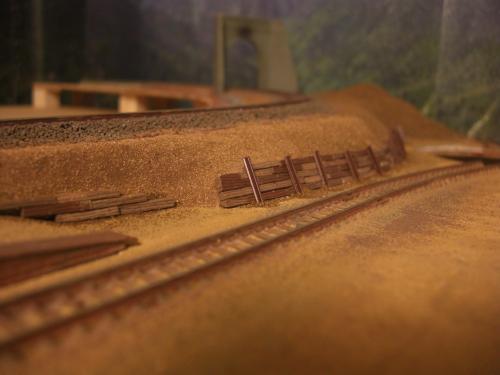 Nゲージレイアウト製作 防護壁 1