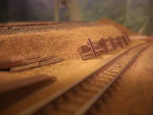 Nゲージレイアウト製作 防護壁 3