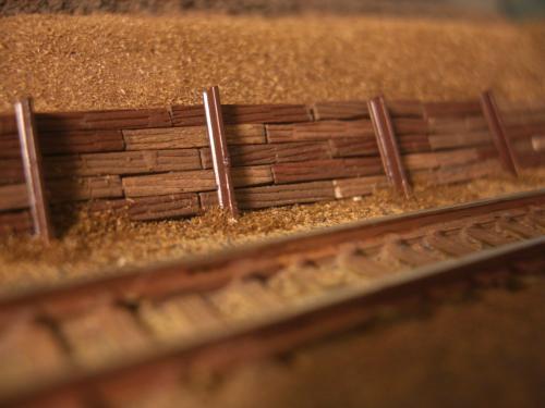 Nゲージレイアウト製作 防護壁 5