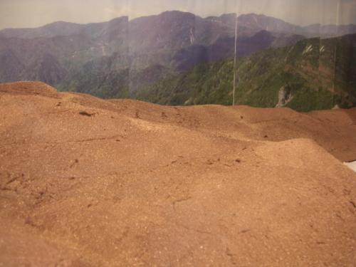 Nゲージレイアウト作製記 山造成 地肌塗装2