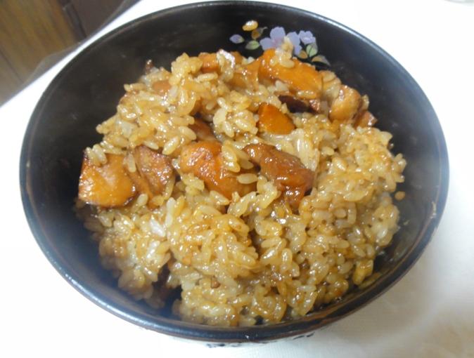 里芋と鶏肉の炊き込みご飯