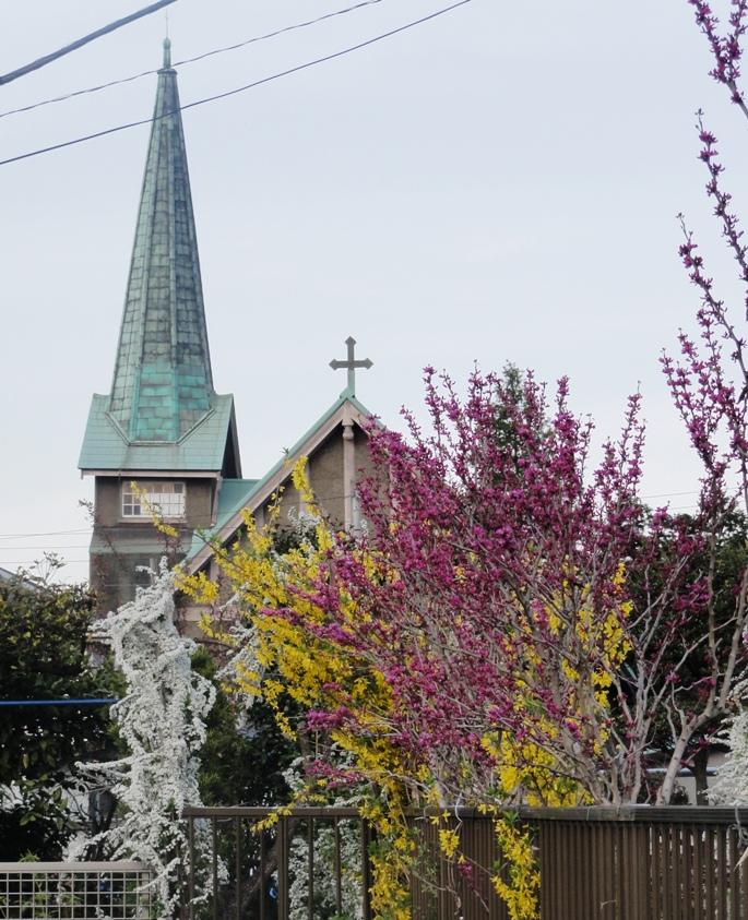 20120412豊岡教会&花