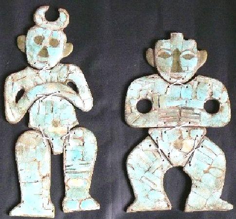 斎家文化 トルコ石モザイク神像