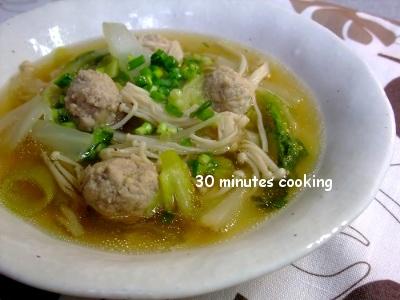 肉団子入り中華スープ5
