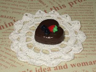 2/12 ハートのチョコケーキ