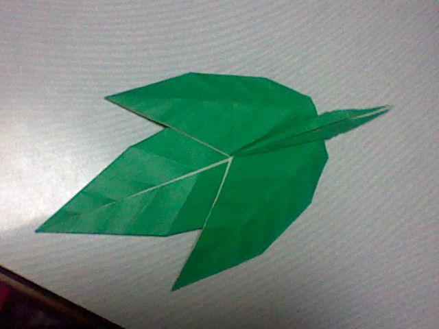 ハート 折り紙 折り紙 葉っぱ 折り方 : divulgando.net