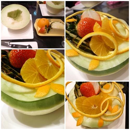 フルーツアート、メロンとオレンジ2