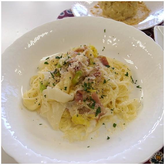 白菜のパスタ