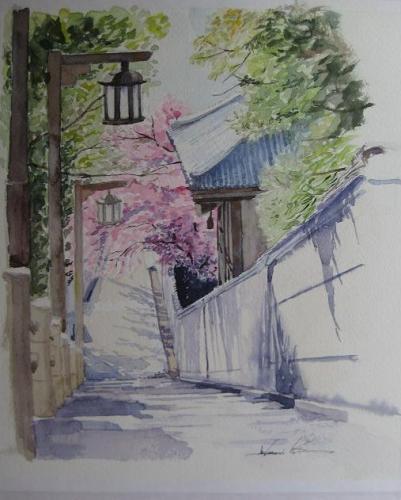 桜舞う口縄坂