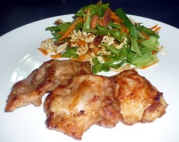 鶏胸をジューシーに美味しく生姜焼き