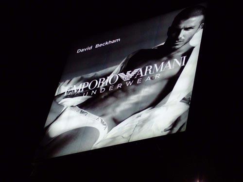 2008年2月7日 デビット・ベッカム EMPOLIO ARMANI