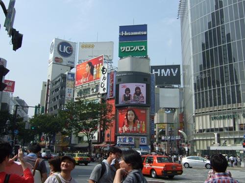 2010年9月21日 渋谷HMV看板-解体