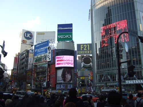 2010年12月27日 渋谷F21看板-完成