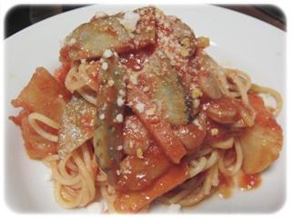 サルシッチャと根菜のスパゲッティ
