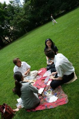 picnicking for lunch