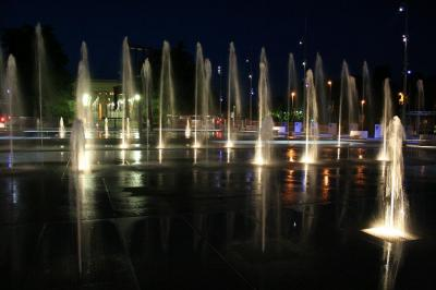 fountains outside UN