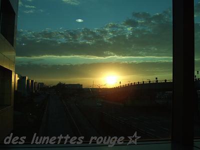 夕陽:桃園国際空港