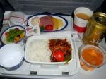 2009/7/31昼食 JL8878便(上海-羽田)にて