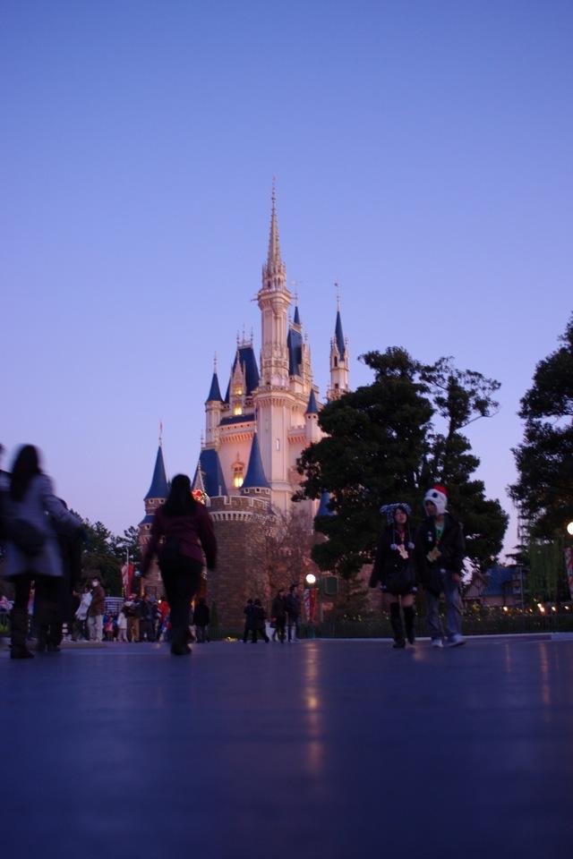 夕暮れの城