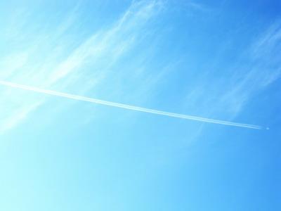 飛行機雲_サイズ変更