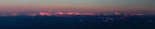 夕映えの南アルプス連峰