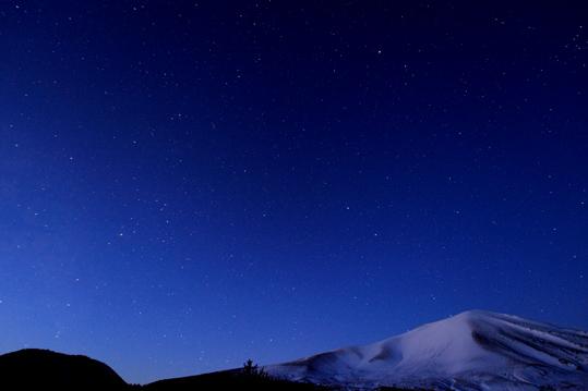 浅間と小浅間の星空