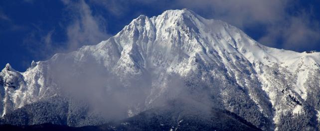 野辺山高原から望む赤岳
