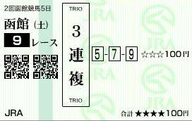 函館9レース