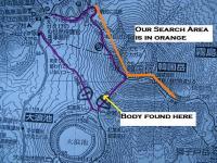 Karakuni search area map