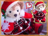 メイ クリスマス 赤チェックワンピ ベレー帽&ケープ