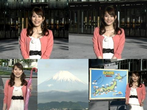 美馬 怜子 富士山クッキリ