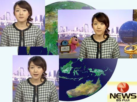 大島由香里 BSフジニュース 12.3