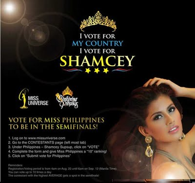 Miss Philippines Shamcey Supsu