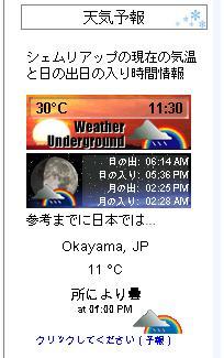 2011年12月6日の天気