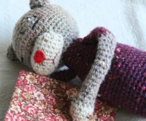編み猫昼寝