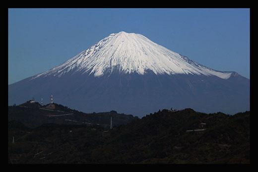 富士山と黒枠